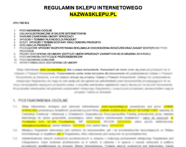 6ecebcf0b2285 Potrzebujesz bezpieczny regulamin sklepu internetowego