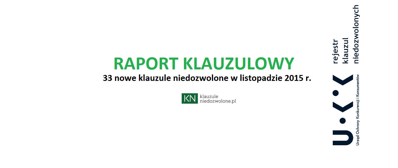 raport klauzulowy listopad