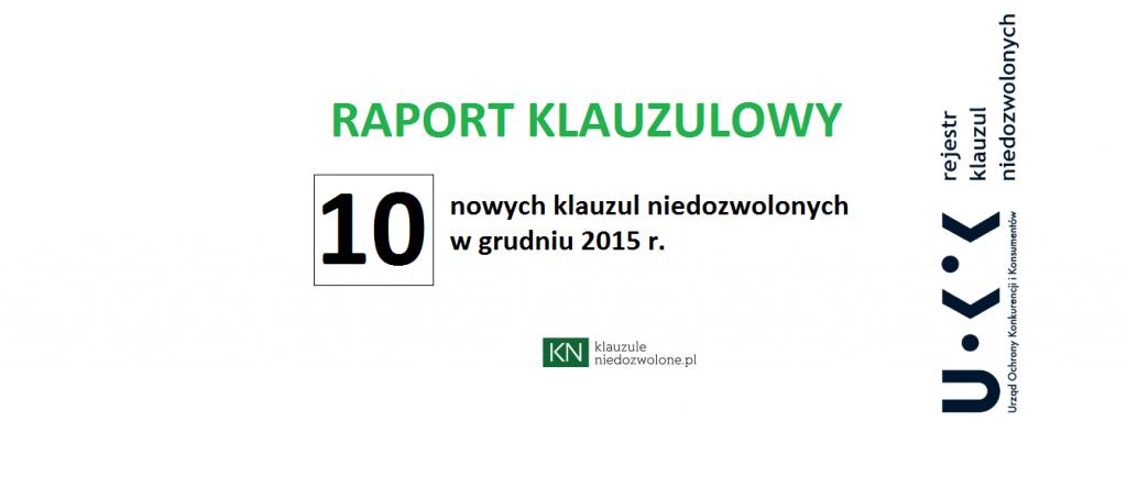 raport klauzulowy grudzień 2015